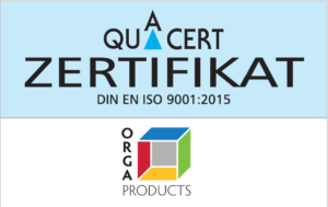 ORGA Products ISO-Zertifikat